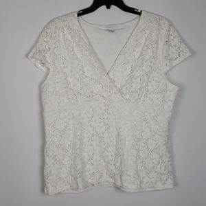 Charter Club Lace short sleeve 3x